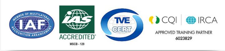 اخذ نمایندگی از TVECERT تحت اعتبار IAS آمریکا و IAF ممبر